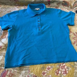 Burberry short sleeved polo shirt. Ladies size XL